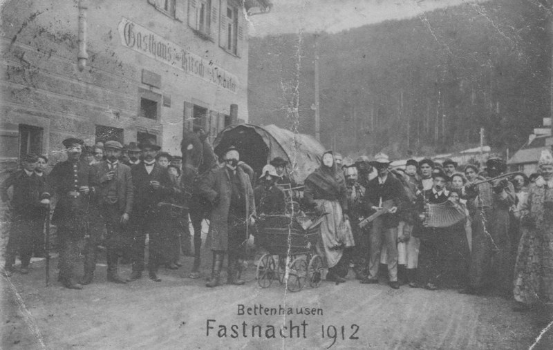 Fasnet in Bettenhausen Anno 1912